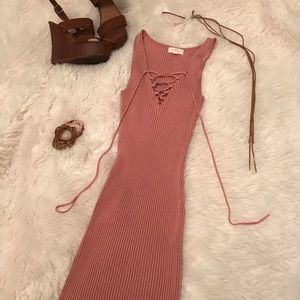 Rose Pink Stretch to Fit Dress